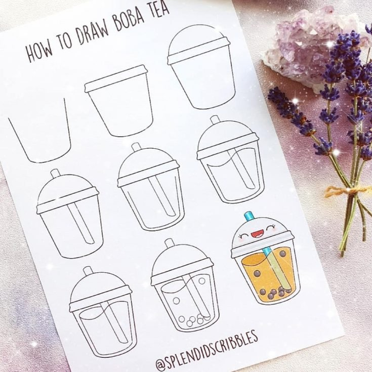 HOW TO DRAW BOBA TEA