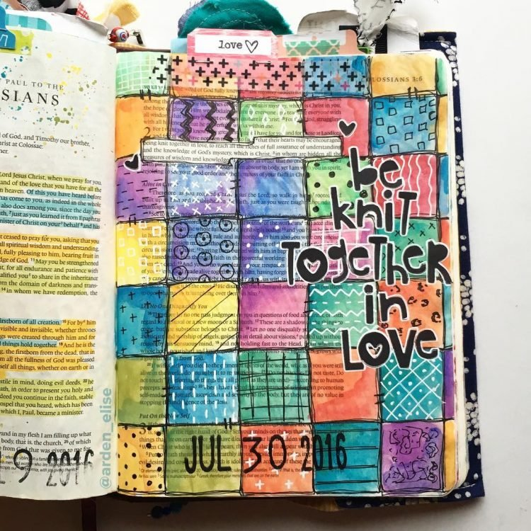 BE KNIT TOGETHER IN LOVE