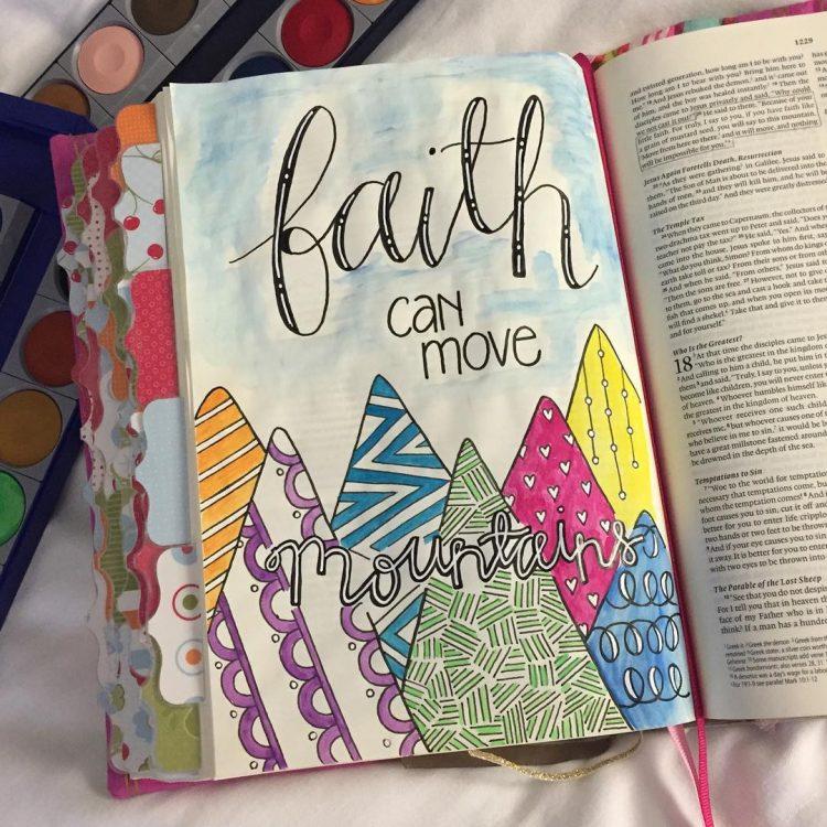 FAITH CAN MOVE MOUNTAINS BIBLE JOURNAL