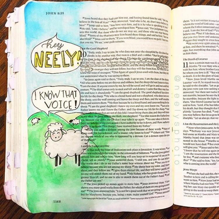 I AM THE GOOD SHEPHERD BIBLE JOURNAL WITH SHEEP