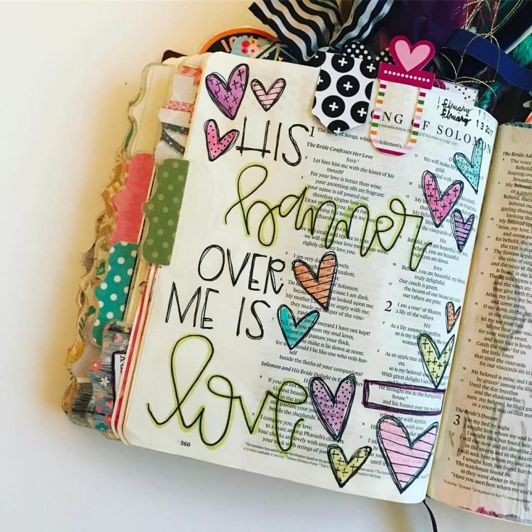 HIS BANNER OVER ME IS LOVE BIBLE JOURNAL