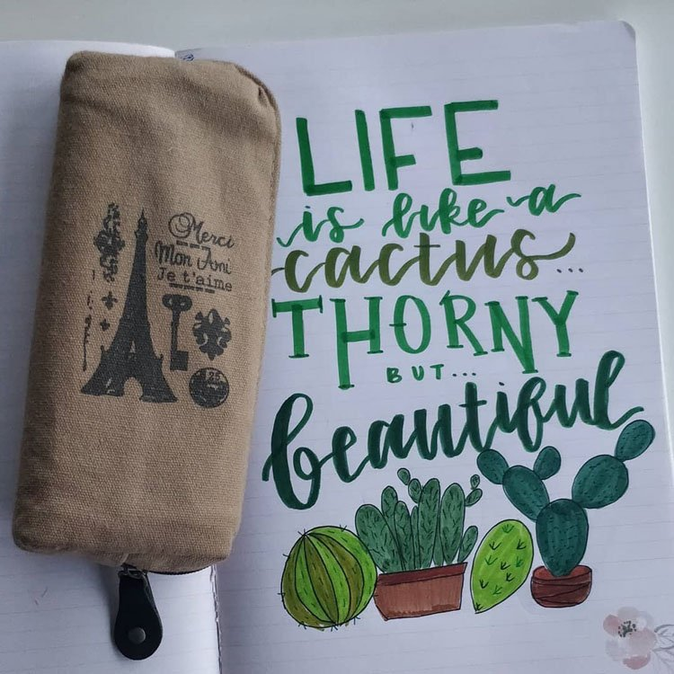 CACTUS QUOTE AND DRAWING