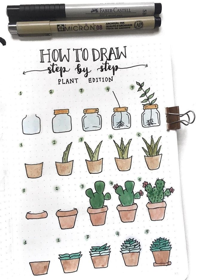 HOW TO DRAW PLANTS STEP-BY-STEP