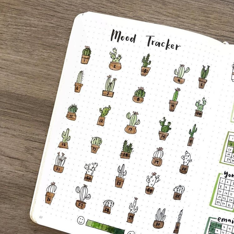 MONTHLY CACTUS MOOD TRACKER