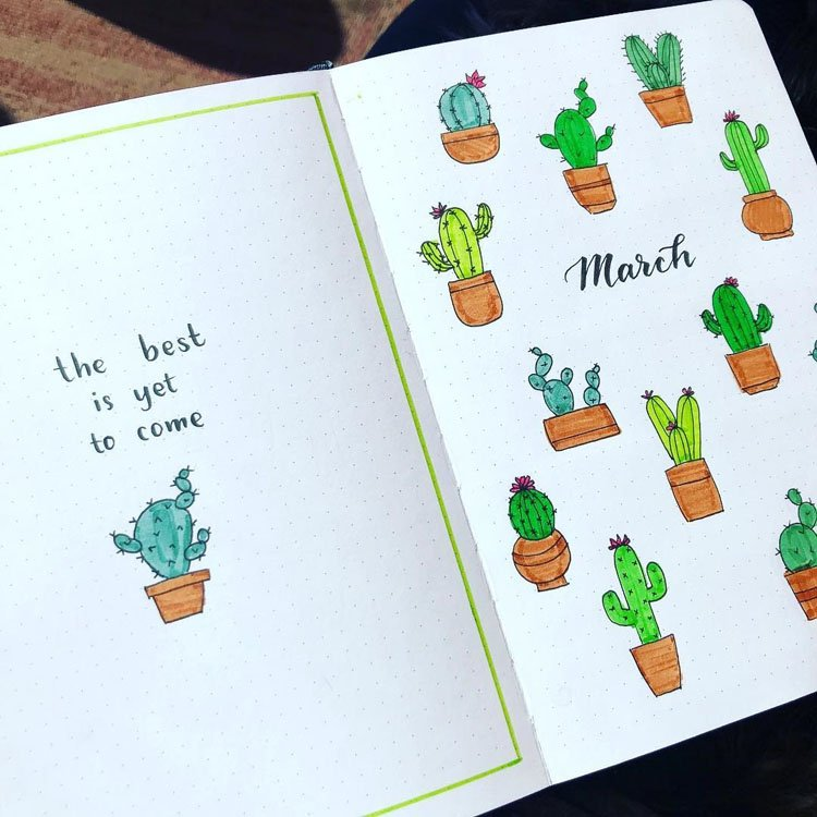 MARCH CACTUS COVER AND QUOTE