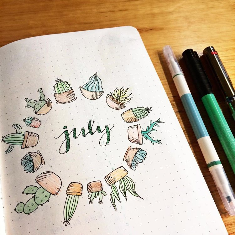 JULY CACTUS AND SUCCULENT COVER