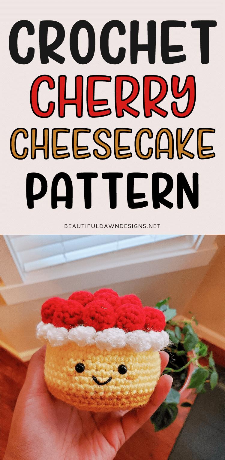 Crochet Cherry Cheesecake Amigurumi