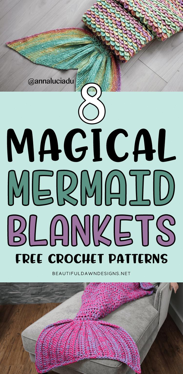 8 Magical Mermaid Blanket Crochet Patterns