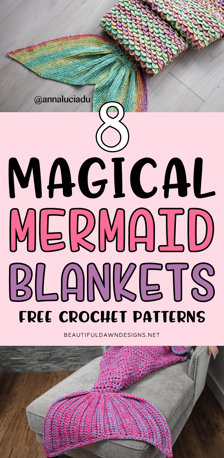 8 Magical Mermaid Blanket Crochet Patterns