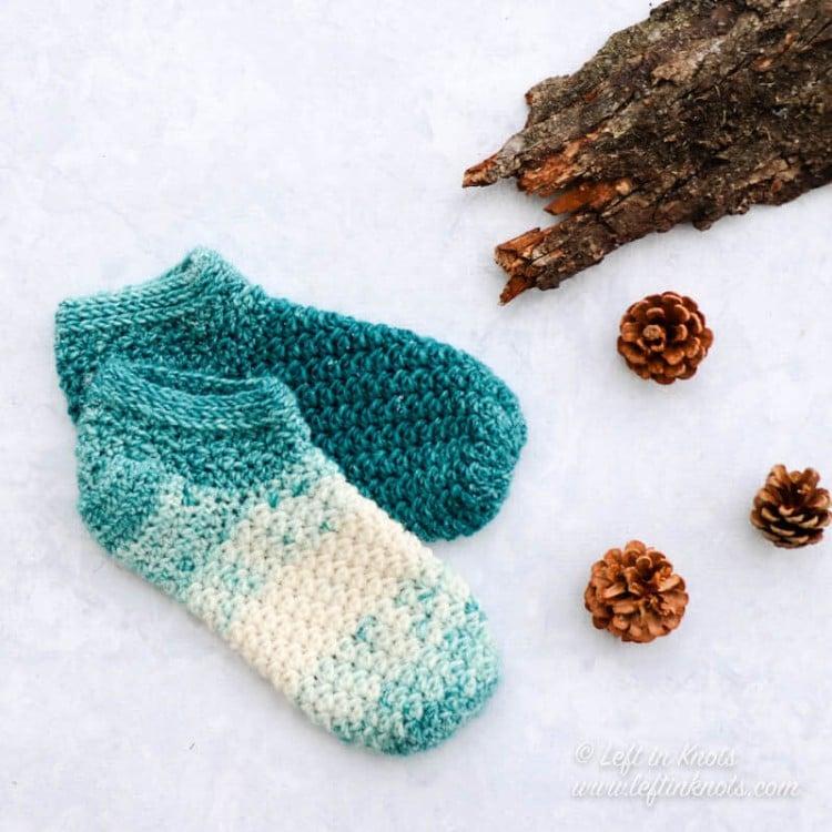 cute crochet slipper socks