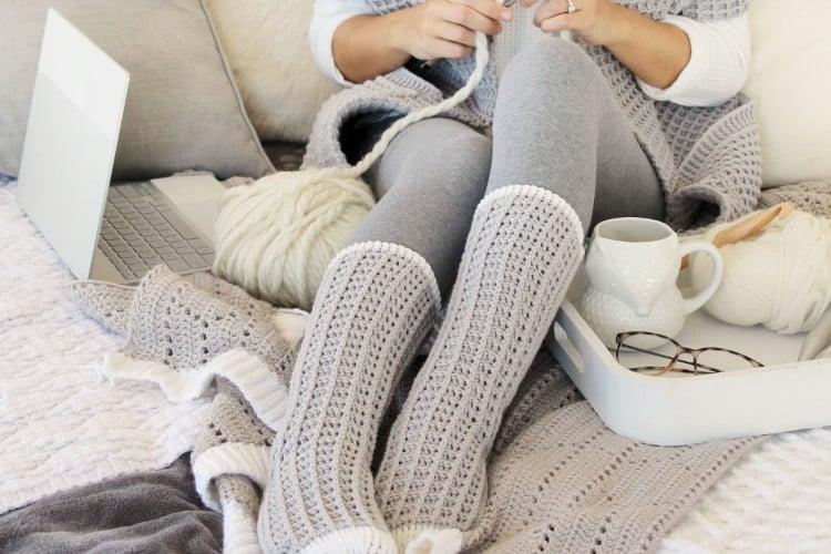 cute tall crochet socks pattern