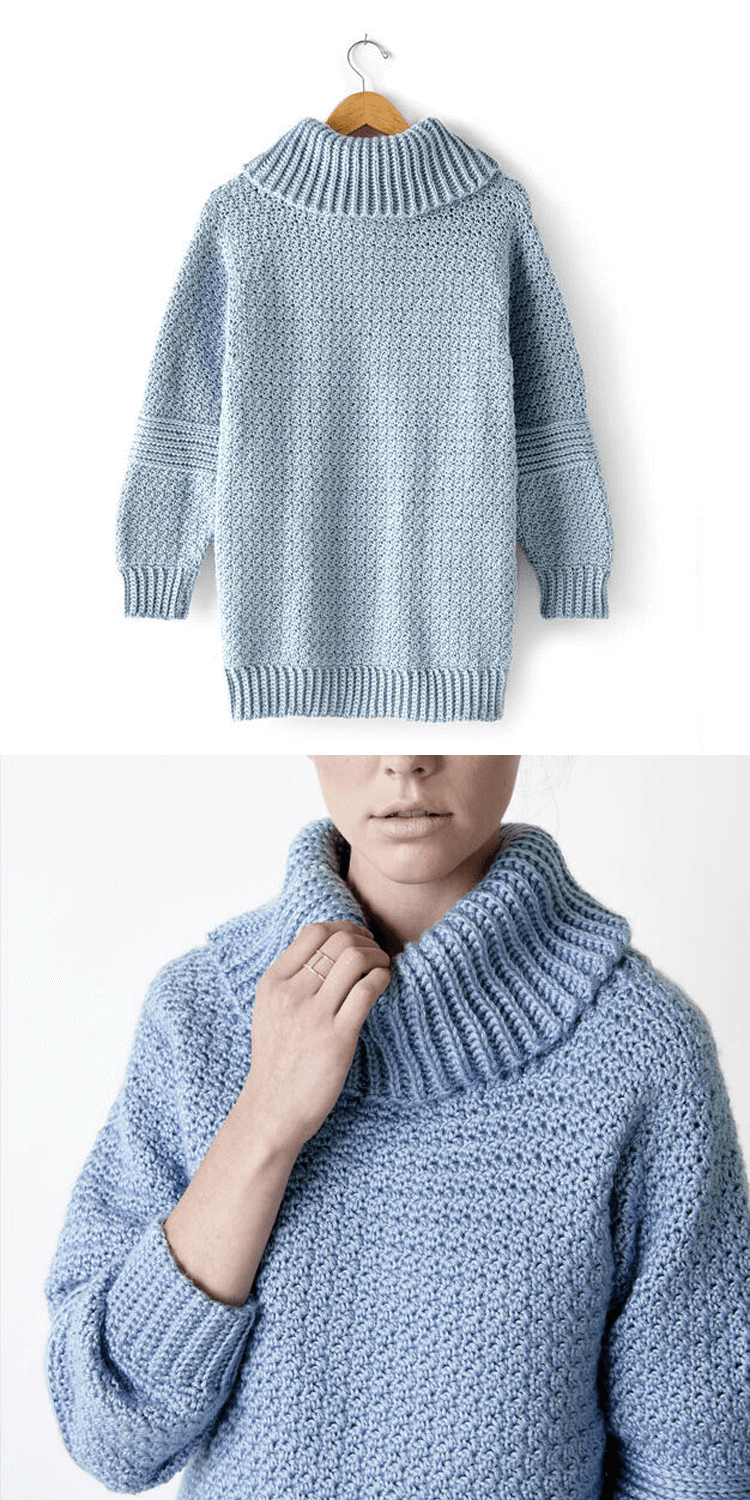 OVER EASY COWL NECK
