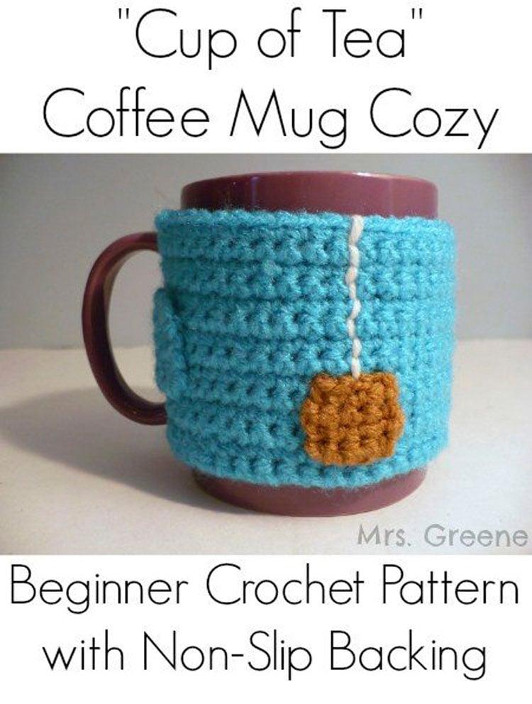 """CUP OF TEA"" COFFEE MUG COZY"