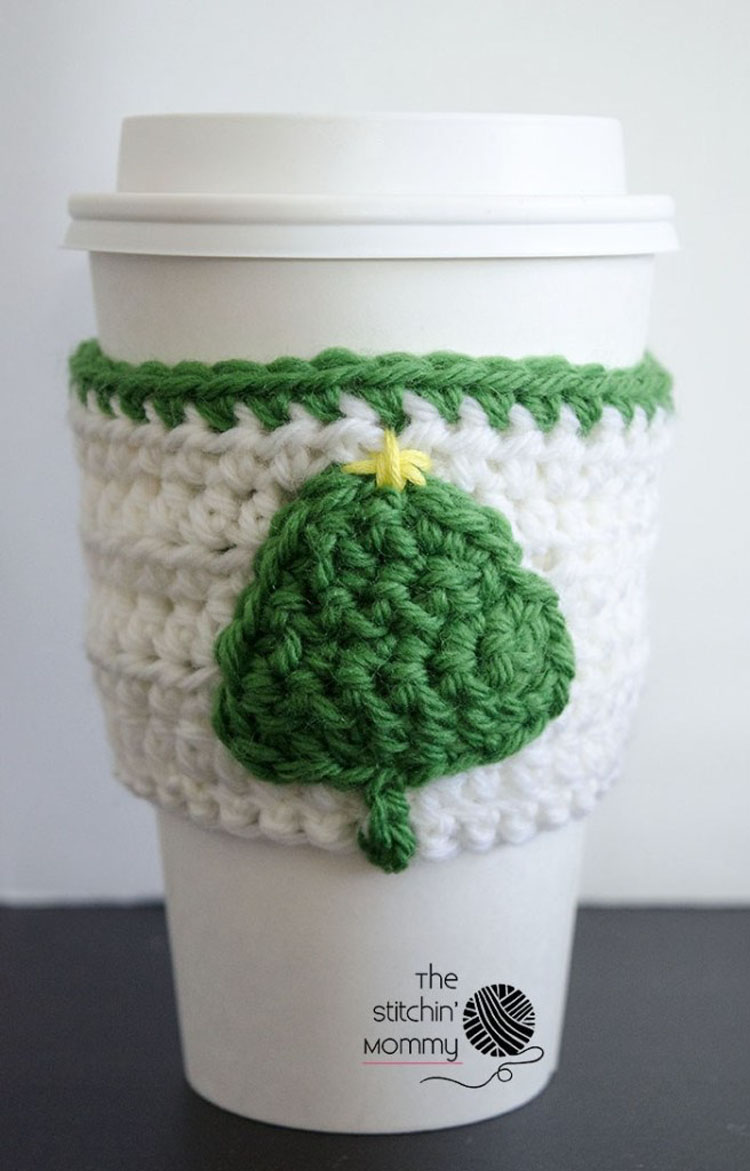 LITTLE TREE COFFEE CUP COZY