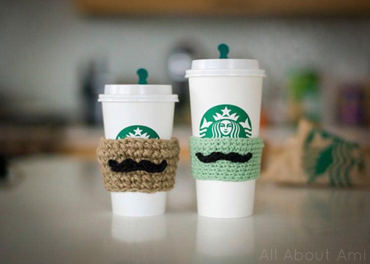 MOUSTACHE COFFEE SLEEVES