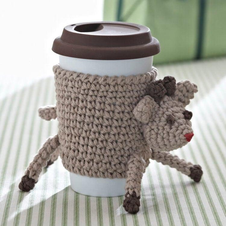 BERNAT CROCHET REINDEER CUP COZY