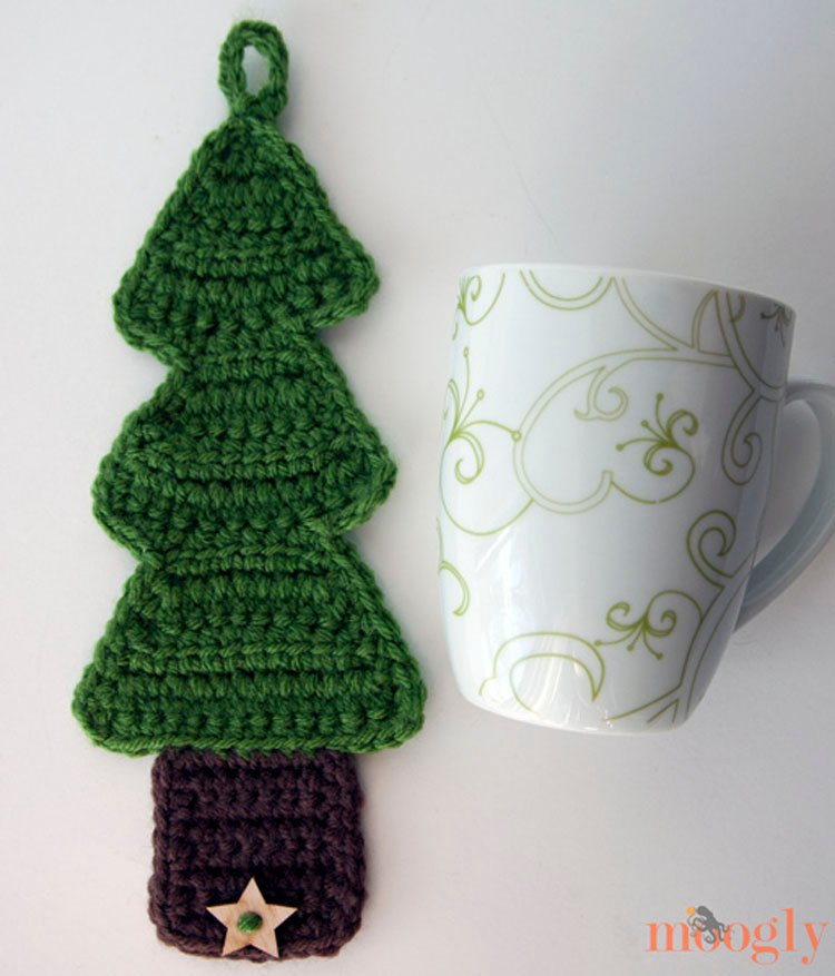 CHRISTMAS TREE COFFEE COZY