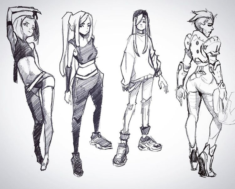 FOUR DIFFERENT GIRLS