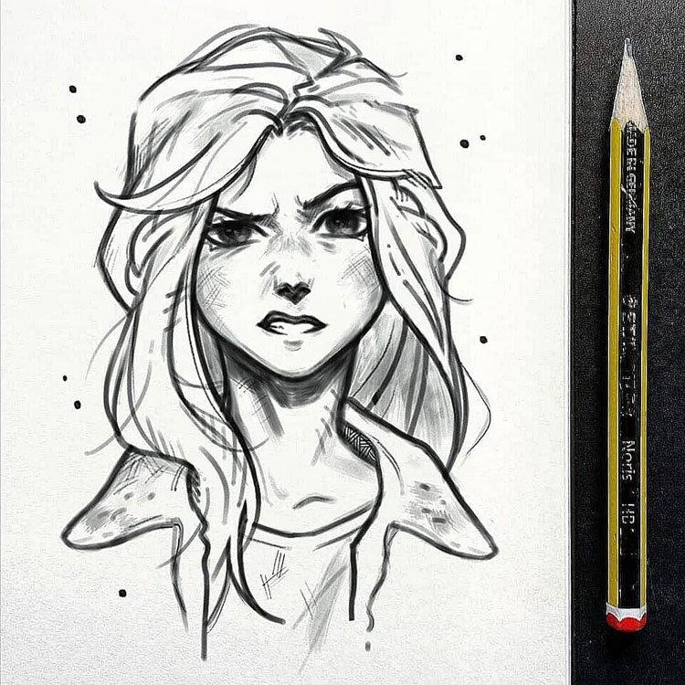 Female sketch cool girl