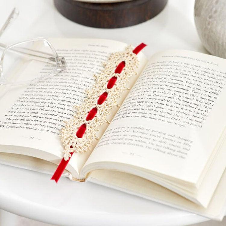 free lace pattern crochet bookmark
