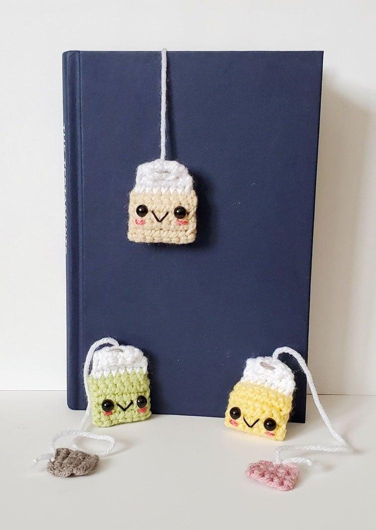 free tea bag crochet bookmark pattern