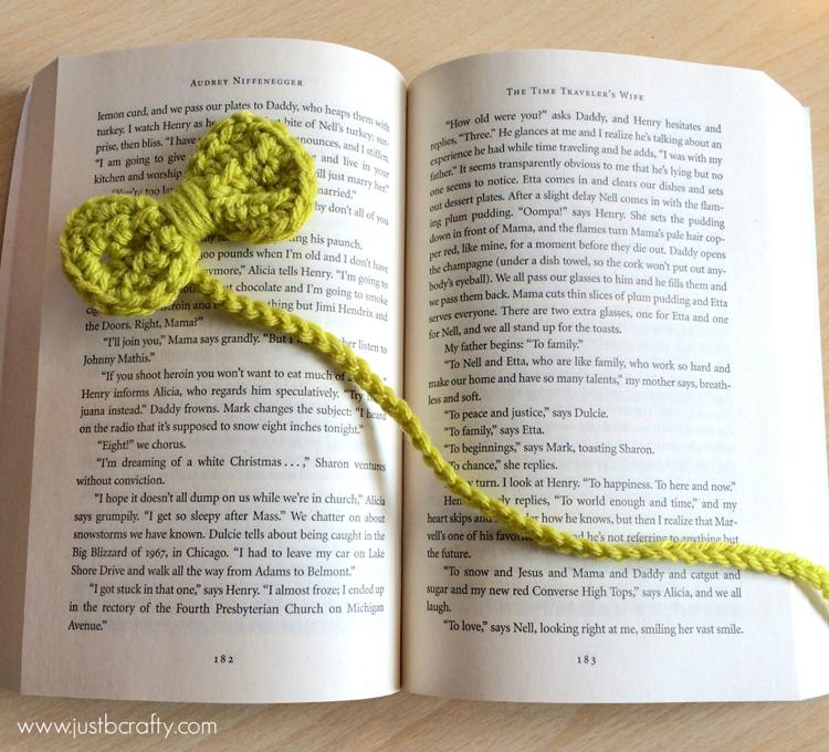 free ribbon crochet bookmark