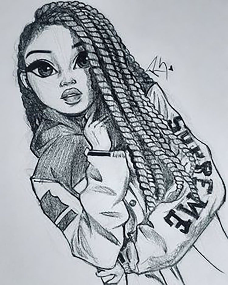 GIRL WITH TWISTS IN HAIR