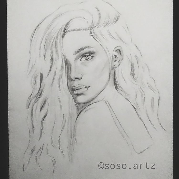 GIRL WITH THICK HAIR