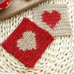 valentines day heart coasters