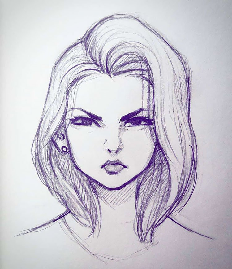 GIRL MAKING ANGRY FACE