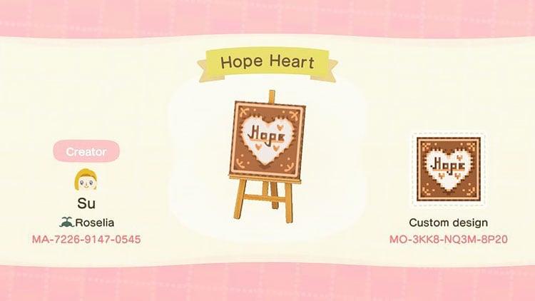 Hope heart sign