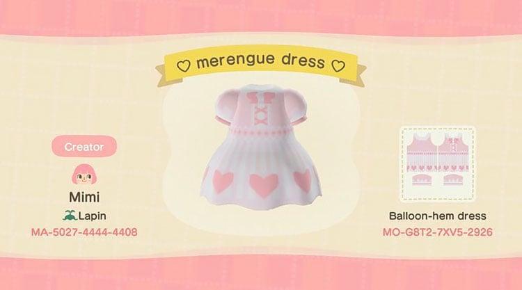 Merengue dress