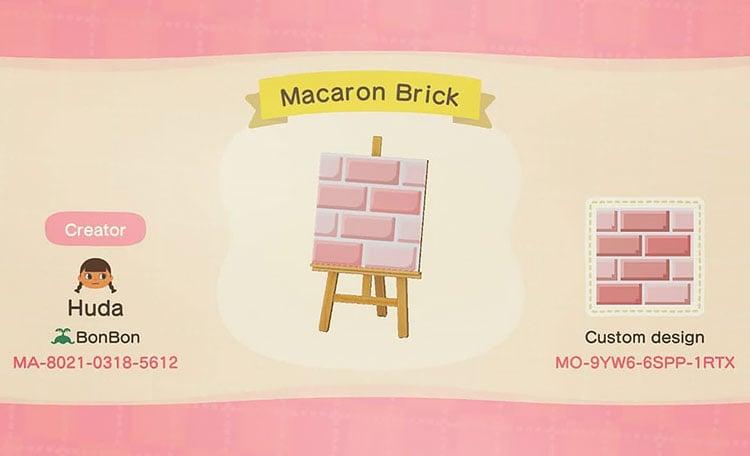 Macaron brick path