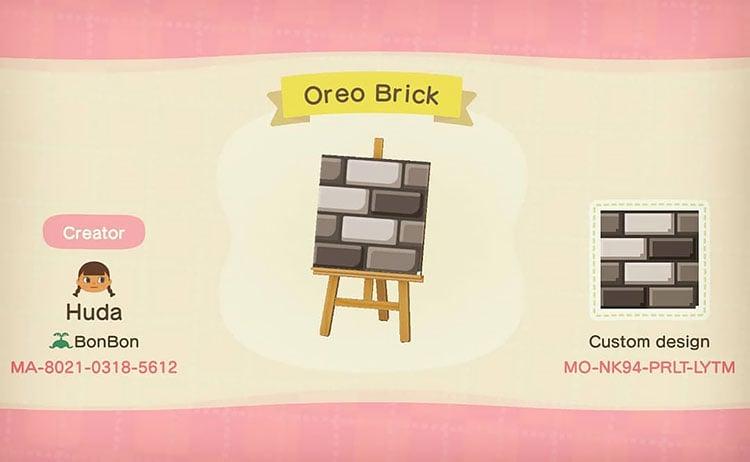 Oreo brick path
