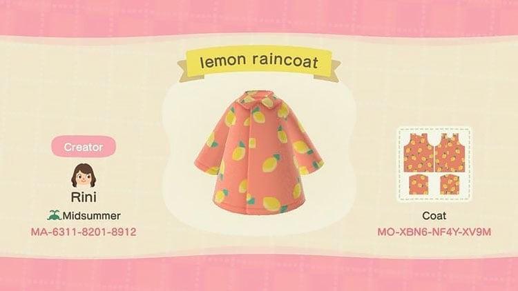 Lemon raincoat