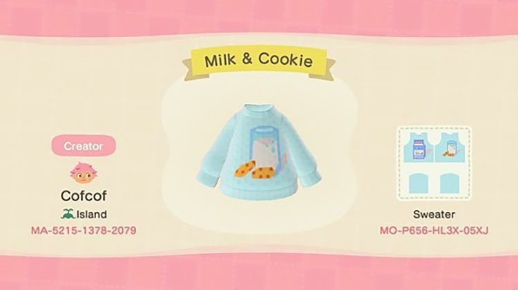 Milk and cookies sweater