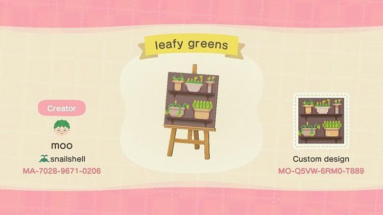 Leafy greens design