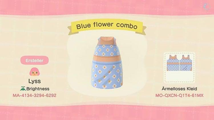 Blue flower combo