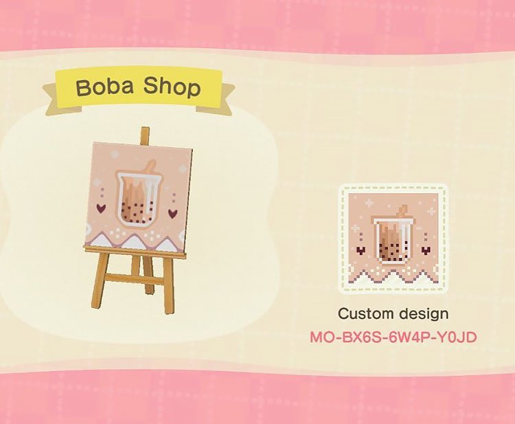 Boba shop sign that can be used for your boba tea shop.