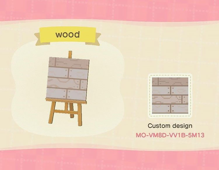 Wood path that can be used on your island.