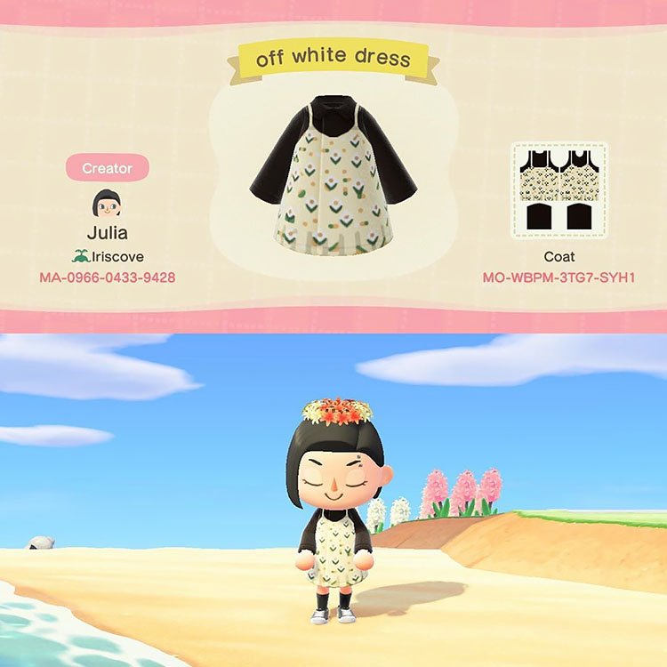 Off white dress created by Julia.
