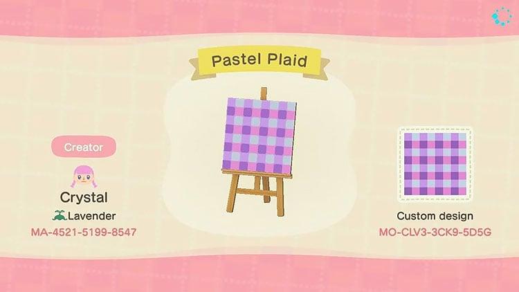 Pastel plaid design
