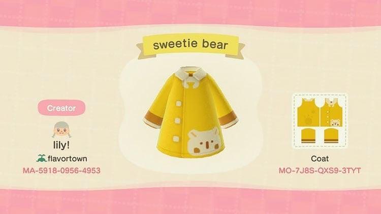 Sweetie bear coat