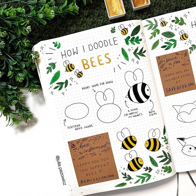 HOW I DOODLE BEES TUTORIAL