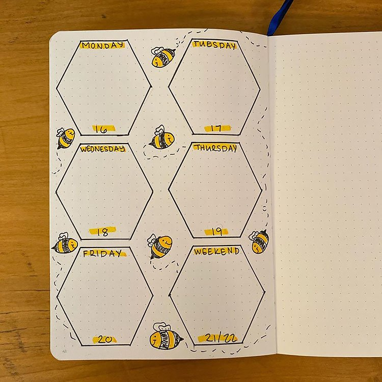 WEEKLY BEE THEMED PLANNER