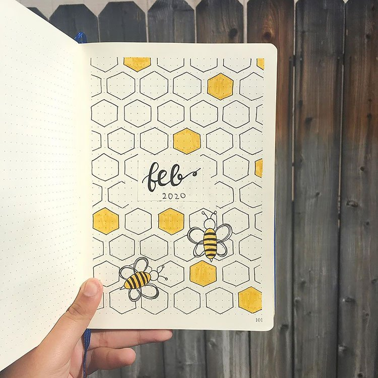 FEBRUARY HONEYCOMB COVER PAGE