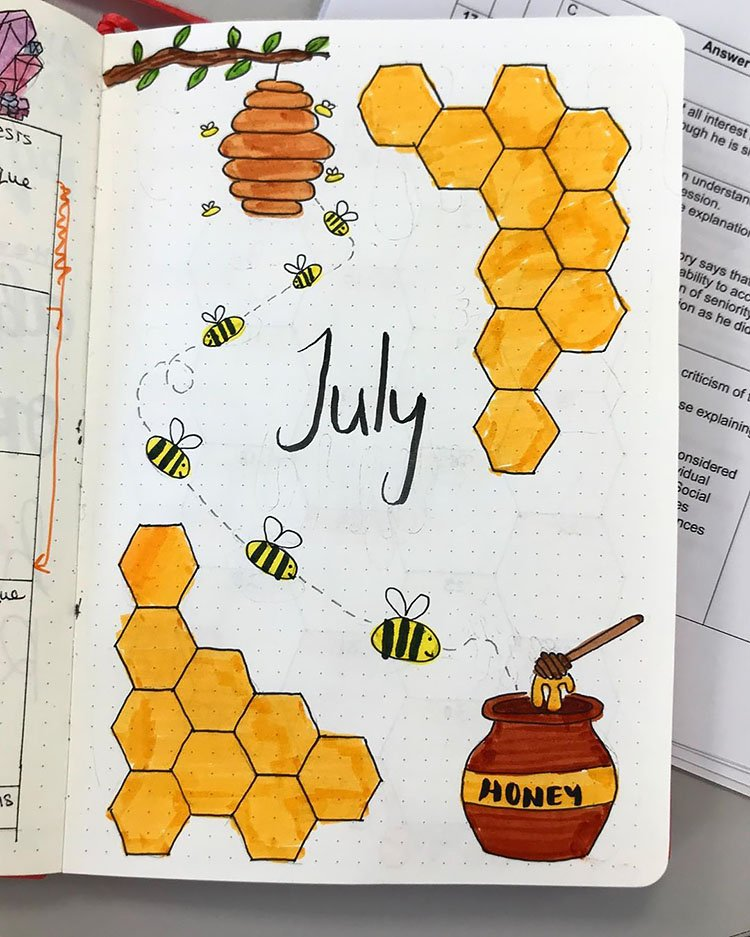JULY BEEHIVE COVER PAGE