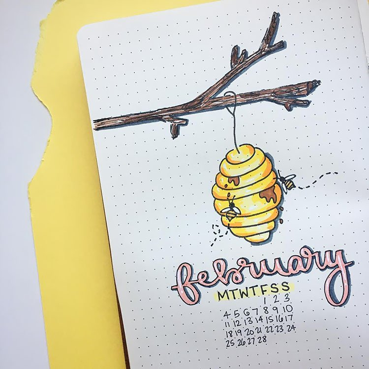 FEBRUARY BEEHIVE COVER PAGE