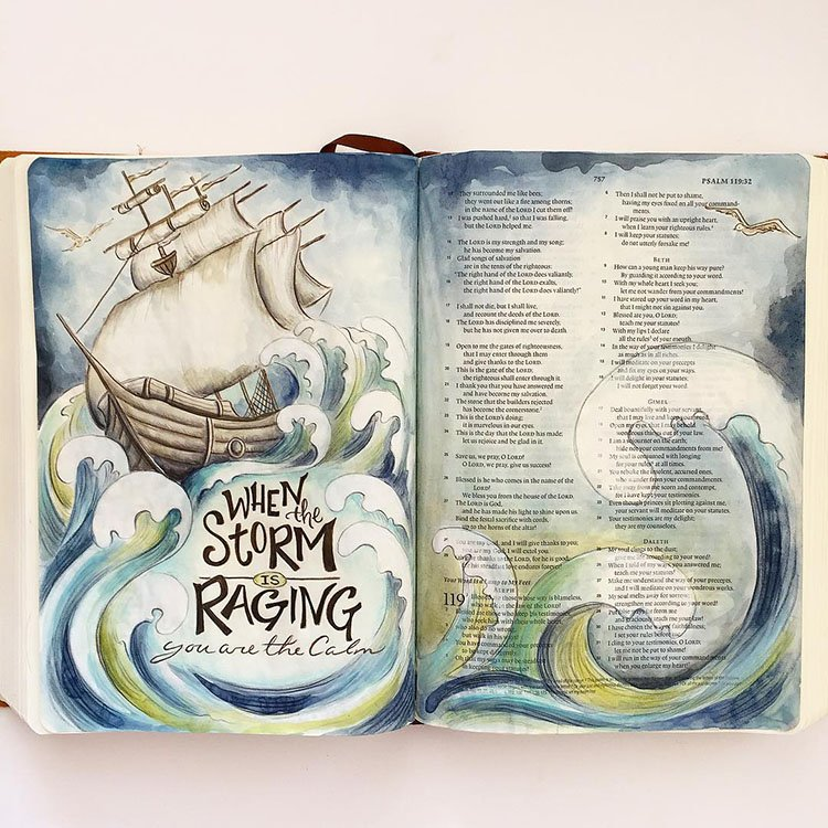 when the storm is raging your are the calm bible journal