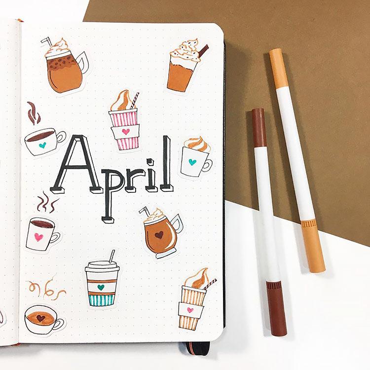 April Coffee Doodles